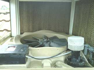 ducted air conditioning unit after servicing
